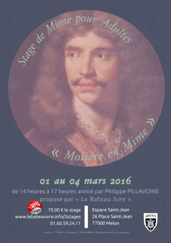 Stage de Mime pour Adultes | «Molière en Mime»