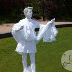 2008 animation Statue Vivante à Meaux artiste mime Philippe Pillavoine