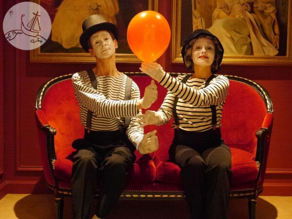 2016 animation Mime à la Carte artiste mime Philippe Pillavoine et Anna Moraschi à Paris pour Scarlett Entertainment