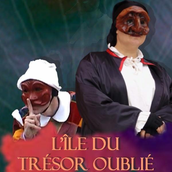 Spectacle de Commedia dell'Arte pour Jeune Public de Philippe Pillavoine L'île du trésor oublié avec Anne-Marie Laussat